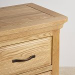 Canterbury Natural Solid Oak Bedside Table - Thumbnail 4