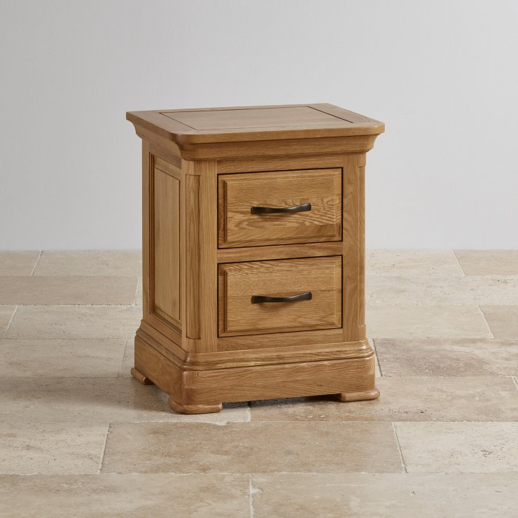 Canterbury Natural Solid Oak Bedside Table - Image 6