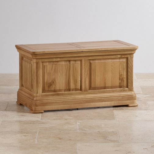 Canterbury Natural Solid Oak Blanket Box