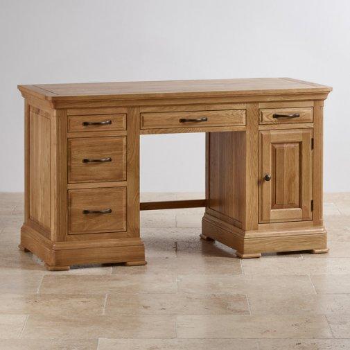 Canterbury Natural Solid Oak Computer Desk
