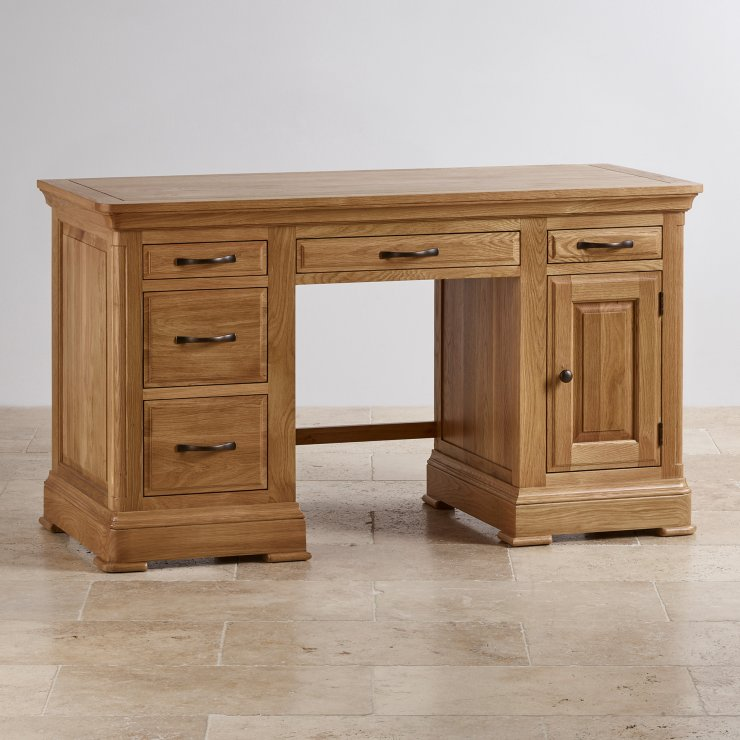 Express Delivery Canterbury Natural Solid Oak Computer Desk