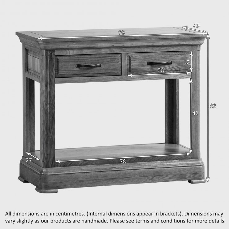 Canterbury Natural Solid Oak Console Table