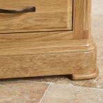Canterbury Natural Solid Oak Corner TV Cabinet - Thumbnail 6