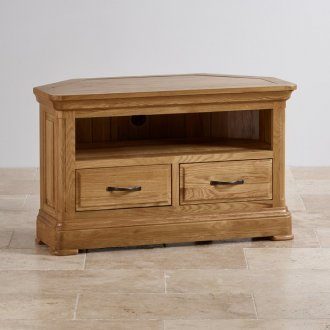 Canterbury Natural Solid Oak Corner TV Cabinet