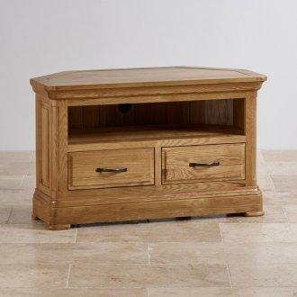 Canterbury Natural Solid Oak Corner TV Cabinet