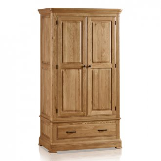 Canterbury Natural Solid Oak Double Wardrobe