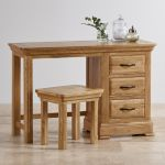 Canterbury Natural Solid Oak Dressing Stool - Thumbnail 4