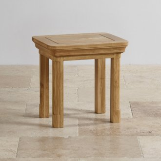 Canterbury Natural Solid Oak Dressing Stool