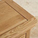 Canterbury Natural Solid Oak Glazed Display Cabinet - Thumbnail 6