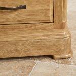 Canterbury Natural Solid Oak Glazed Display Cabinet - Thumbnail 5