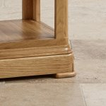Canterbury Natural Solid Oak Lamp Table - Thumbnail 4
