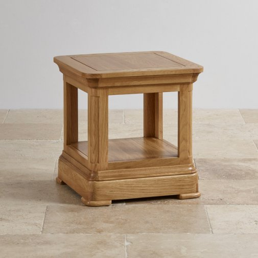 Canterbury Natural Solid Oak Lamp Table