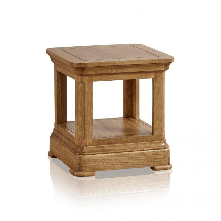 Canterbury Natural Solid Oak Lamp Table - Image 1