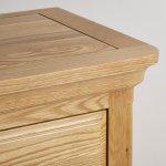 Canterbury Natural Solid Oak Large TV Cabinet - Thumbnail 5