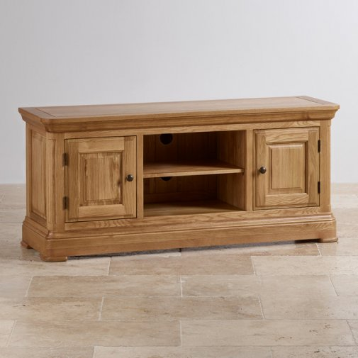 Canterbury Natural Solid Oak Large TV Cabinet