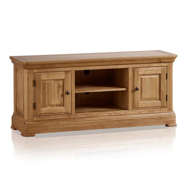 Canterbury Natural Solid Oak Large TV Cabinet