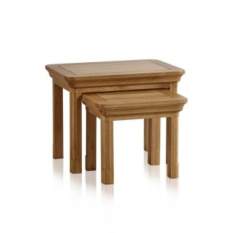 Canterbury Natural Solid Oak Nest of Tables