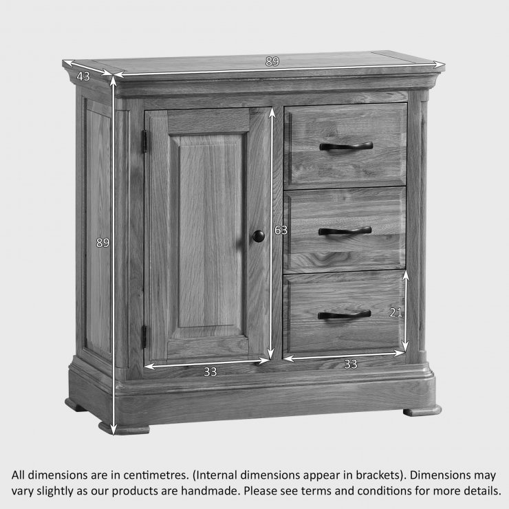 Canterbury Natural Solid Oak Storage Cabinet
