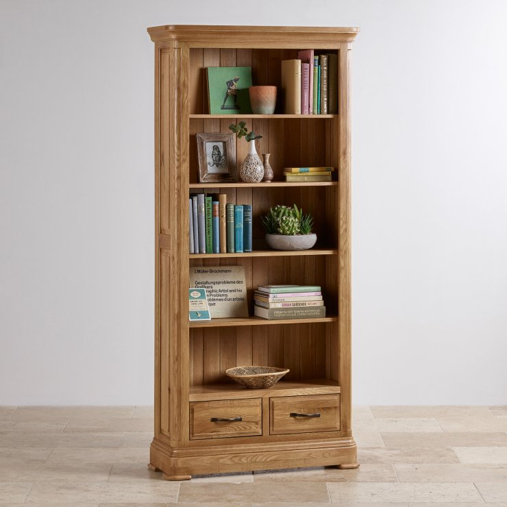 Canterbury Natural Solid Oak Tall Bookcase
