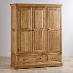 Canterbury Natural Solid Oak Triple Wardrobe - Thumbnail 2