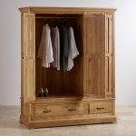 Canterbury Natural Solid Oak Triple Wardrobe - Thumbnail 3