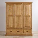 Canterbury Natural Solid Oak Triple Wardrobe - Thumbnail 4