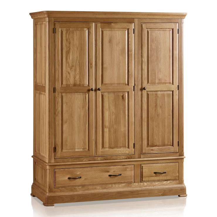 Canterbury Natural Solid Oak Triple Wardrobe - Image 7