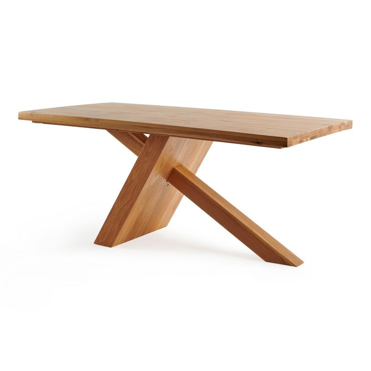 Cantilever 6 Seater Natural Solid Oak Table