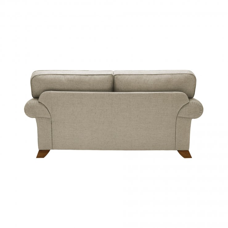 Carolina 2 Seater High Back Sofa in Beige with Beige Scatters