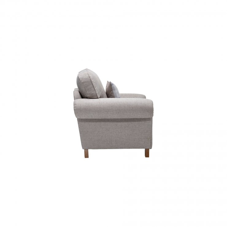 Carolina Armchair in Silver with Navy Scatter