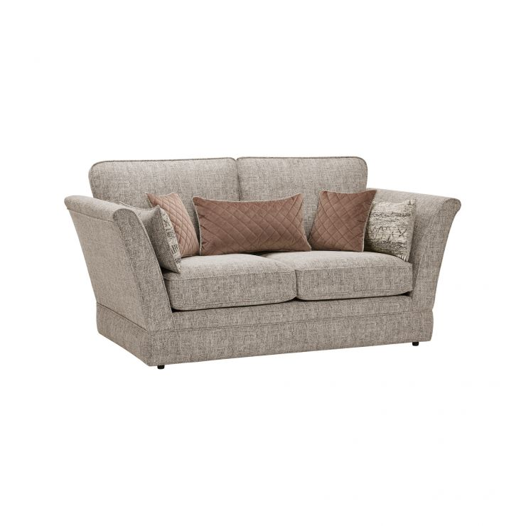 Carrington 2 Seater High Back Sofa in Breathless Fabric - Biscuit