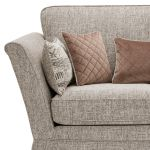 Carrington 2 Seater High Back Sofa in Breathless Fabric - Biscuit - Thumbnail 5