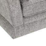Carrington 2 Seater High Back Sofa in Breathless Fabric - Silver - Thumbnail 8