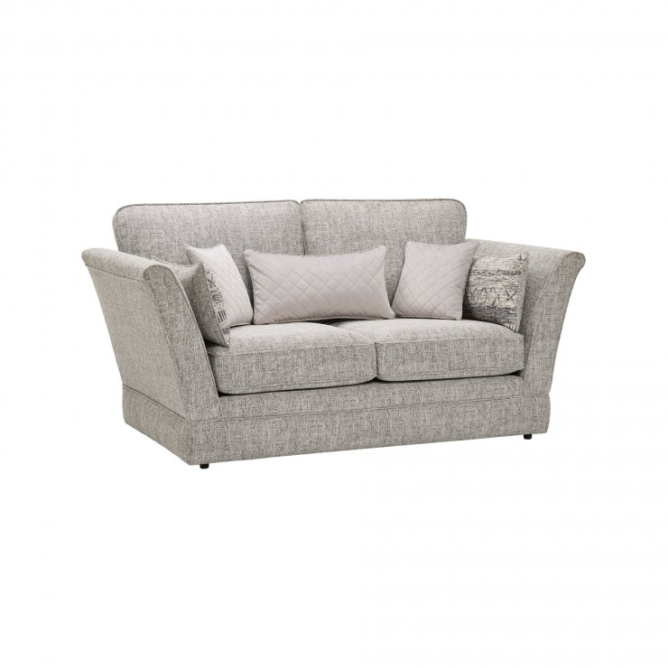 Carrington 2 Seater High Back Sofa in Breathless Fabric - Silver - Image 9