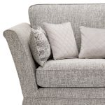 Carrington 2 Seater High Back Sofa in Breathless Fabric - Silver - Thumbnail 5