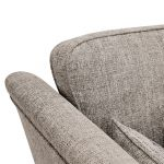 Carrington 3 Seater High Back  Sofa in Breathless Fabric - Biscuit - Thumbnail 6
