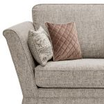 Carrington 3 Seater High Back  Sofa in Breathless Fabric - Biscuit - Thumbnail 4