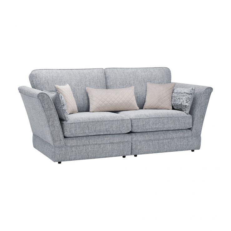 Carrington 3 Seater High Back Sofa in Breathless Fabric - Navy
