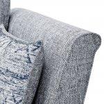 Carrington 3 Seater High Back Sofa in Breathless Fabric - Navy - Thumbnail 5