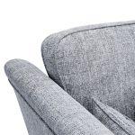 Carrington 3 Seater High Back Sofa in Breathless Fabric - Navy - Thumbnail 6