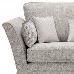 Carrington 3 Seater High Back  Sofa in Breathless Fabric - Silver - Thumbnail 4