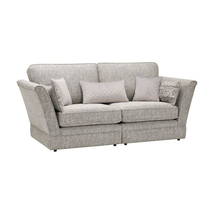 Carrington 3 Seater High Back  Sofa in Breathless Fabric - Silver