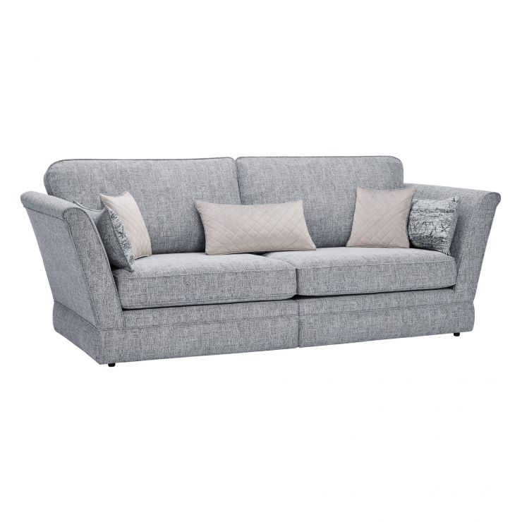 Carrington 4 Seater High Back Sofa in Breathless Fabric - Navy
