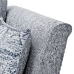 Carrington 4 Seater High Back Sofa in Breathless Fabric - Navy - Thumbnail 6