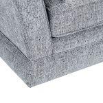 Carrington 4 Seater High Back Sofa in Breathless Fabric - Navy - Thumbnail 8