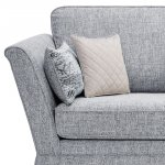 Carrington 4 Seater High Back Sofa in Breathless Fabric - Navy - Thumbnail 5
