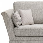 Carrington 4 Seater High Back Sofa in Breathless Fabric - Silver - Thumbnail 5