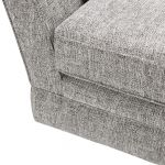 Carrington 4 Seater High Back Sofa in Breathless Fabric - Silver - Thumbnail 8