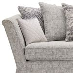 Carrington 4 Seater Pillow Back Sofa in Breathless Fabric - Silver - Thumbnail 5