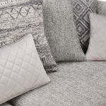 Carrington 4 Seater Pillow Back Sofa in Breathless Fabric - Silver - Thumbnail 7